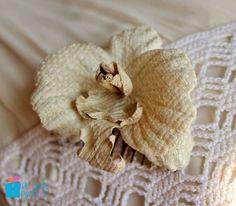 Silk orchid, eco wedding, flower comb, wild silk orchid hair, shabby chic