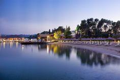 Strand im Abendlicht -  Yoga Retreat im Kontokali Bay Resort & Spa auf Korfu