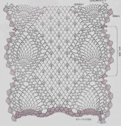 Beautiful oblong doily crochet