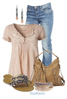"""""""Untitled #301"""" by elizawashi1 ❤ liked on Polyvore featuring Wet Seal, Capelli New York, Nine West, Stella & Dot and NAKAMOL"""