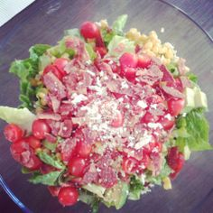 BLT Salad with cilantro-jalapeño dressing
