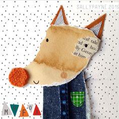 We kunnen niet kiezen uit het werk van Sally Payne, zoals deze vos in spijkerstof!