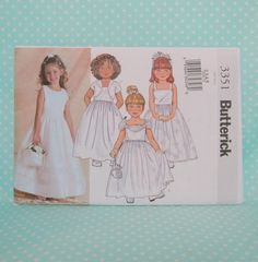 Flower Girl Dress Pattern. Cheapest Shipping. First Communion Dress Pattern Butterick 3351 Sz:2-5 Special Occasion Dress Pattern New. Uncut. by FashionSew on Etsy