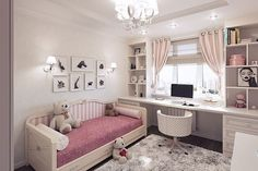 Teen Girl Bedrooms demo - An exceptional take on teen room decor inspirations and examples. For extra exceptional decor explanation simply jump to the image link right now Bedroom Ideas For Teen Girls, Girl Bedroom Designs, Girls Bedroom, Bedroom Decor, Master Bedroom, Bedroom Lighting, Girl Nursery, Kids Room Bed, Kid Rooms