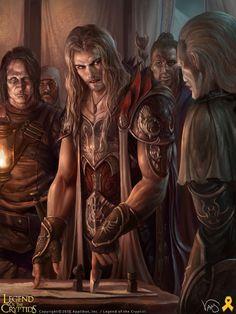 Artist: Yang Mansik aka yam8417 - Legend of the Cryptida illustration: Tubal-Cain, Lost General