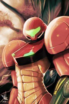 Metroid fan art by Roguetwo