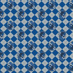 Fabric: Blue Argyle Ravenclaw Crest on FLANNEL Collection: Harry Potter Manufacturer: Camelot Fabrics Width: 42 Fiber Content: Cotton Would make great pj pants for your favorite Ravenclaw! all orders ship in business days Minnie Mouse Fabric, Harry Potter Fabric, Ravenclaw, Making Out, Quilt Patterns, Flannel, Pets, Yard, Patio