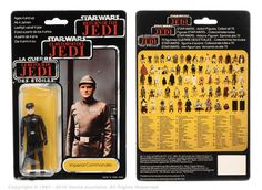 """Palitoy/General Mills Star Wars Return of the Jedi Tri-Logo Imperial Commander 3 ¾"""" vintage figure, Near Mint to Mint, within Good Plus (indented) bubble, upon Excellent 70B un-punched card back. Estimate: £80 - £120"""