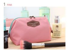 New 2016 Portable Cute Multifunction Beauty Travel Cosmetic Bag Makeup Case Pouch Solid Toiletry Makeup Bag Storage Bag