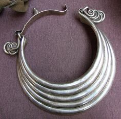 Miao (Chinese minority culture) silver collar