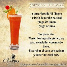 Sexo En La Playa, con Tequila El Charro! #Tequila #TequilaElCharro #Coctel #Cocktail #SexonEnLaPlaya
