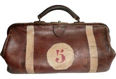 1920s Leather Sports Bag - One Kings Lane - Vintage & Market Finds - Decorative Accessories
