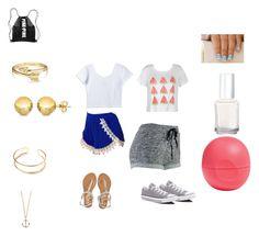 """""""Chill day"""" by bri-bab ❤ liked on Polyvore featuring Lucy Love, Aéropostale, Minor Obsessions, Ally Fashion, Converse, Eos, Bling Jewelry, Sevil Designs and Essie"""