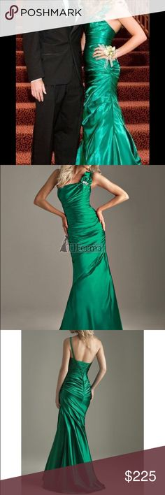 Green Night Moves Prom Pageant Formal Dress Worn once, never altered, size 2 Night Moves Dresses Prom