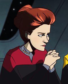 Kate Mulgrew, Star Trek Movies, The Final Frontier, Star Trek Voyager, Uss Enterprise, Love Stars, Trekking, Movie Tv, Sci Fi