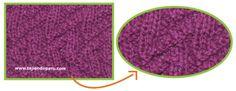 Tutorial: punto columnas y picos para tejer en dos agujas o palitos