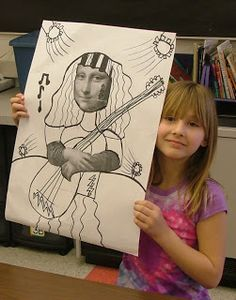 Grade - Mona Lisa Parodies for art class Elementary Art Rooms, Art Lessons Elementary, Mona Lisa Parody, Monalisa, 5th Grade Art, Ecole Art, School Art Projects, Renaissance Art, Art Lesson Plans