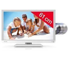 TOSHIBA Telewizor LED/DVD 24D1334 biały