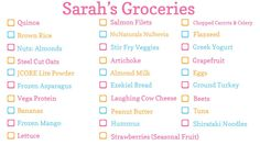 Summer 2012 Healthy & Clean Grocery Haul -- i need to do this next year Shopping List Grocery, Grocery Haul, Veggie Fries, Veggie Stir Fry, Healthy Eating Tips, Healthy Lunches, Healthy Life, Healthy Food, Healthy Recipes