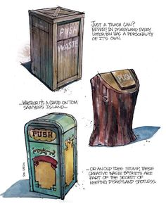 Trash Can concept art by #DonCarson