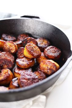 15 Minute EASY Caramelized Coconut Sugar Plantains! Refined Sugar Free and SO delicious (vegan, paleo) | minimalist baker
