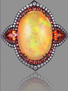 Ring by Alessio Boschi~one of the most beautiful opal rings I've ever seen. #opalsaustralia