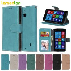 Lemonlan Fashion for Nokia Lumia 930 N930 Retro Matte Skins Leather Case for Nokia 930 Photo Frame Magnetic Flip Wallet Cover