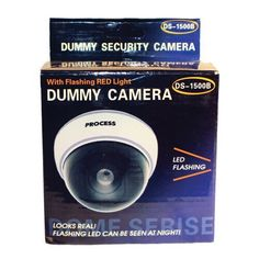 This dome dummy camera has the look of an expensive high definition camera and will help deter a robbery or theft. It has a flashing LED that gives the effect the camera is a working surveillance camera. Security Alarm, Safety And Security, Security Service, Wireless Home Security Systems, Security Products, Dome Camera, White Bodies, Led