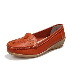 2017 Women Flats Genuine Leather Mother Shoes Moccasins Women's Soft Leisure Female Driving Shoe Flat #WD561
