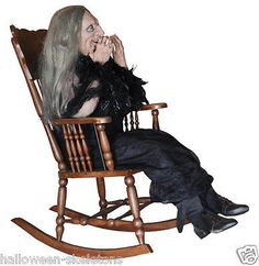 Laughing Hag Animated Halloween Prop