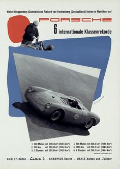 Awesome old Porsche Posters