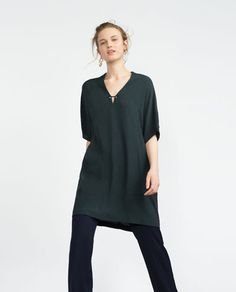 Image 1 of V-NECK TUNIC from Zara