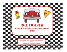 Race to Review - A Review of Closed, Open, and VCE Concepts Consonant Blends, Different Words, Syllable, Special Education Teacher, Teacher Newsletter, Racing, Concept, Activities, Learning