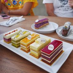 A platter of our signature entremets for tasting with Chef today. All natural ingredients only! From left to righ Pastry Recipes, Baking Recipes, Cake Recipes, Dessert Recipes, Opera Cake, French Patisserie, Fancy Desserts, Cake Tasting, French Pastries