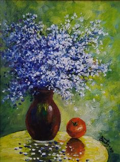Flowers, Painting, Art, Art Background, Painting Art, Kunst, Paintings, Performing Arts, Royal Icing Flowers