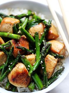 Chicken and Asparagus Stir-Fry | foodsweet | foodsweet