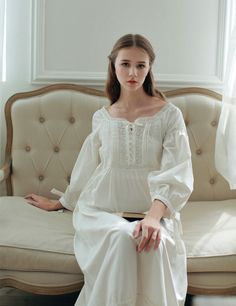 Cheap lounge table, Buy Quality lounge suit directly from China lounge room Suppliers: 2016High Quality Cotton Home Nightwear Ankle-length Vestidos Vintage Long Gown Pyjama Medieval Party Pure Princess Dress Female
