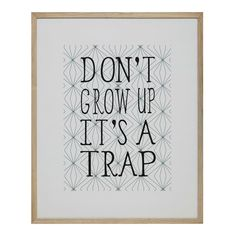STAY YOUNG wooden frame 90 x 110cm