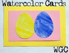 Watercolor Easter Egg Card