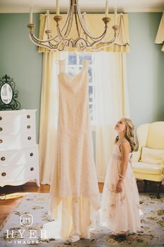 Wedding gown | Flower girl | Legare Waring House, Charleston SC | Event planning by Loluma | Photography by Hyer Images