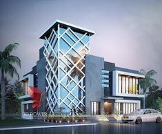 Ultra Modern Home Designs   Home Designs: 3D Architectural Visualization Services – Corporate Office