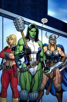 Lady Liberators - Thundra, She-Hulk & Valkyrie