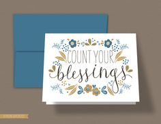 Count Your Blessings Card via lemon squeezy - Free PDF Printable
