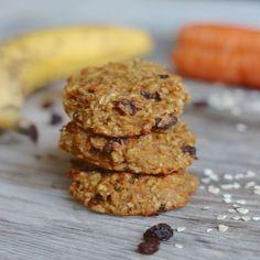 Karotten Apfel Cookies vegan und ohne zucker Apple Cookies, Sweet Cookies, Vegan Baking, Healthy Baking, Healthy Cake, Eat Healthy, Pampered Chef, Vegan Snacks, Healthy Snacks