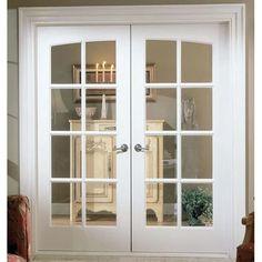 French Doors With Screens, Double French Doors, Glass French Doors, French Windows, Glass Doors, Wood French Doors Exterior, Double Doors Interior, Exterior Doors, Living Room Upgrades