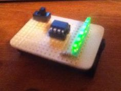 This is an Instructable for making your own 5 LED POV (Persistence Of Vision) display! This is my second Instructable, also for the Elemental. Diy Electronics, Electronics Projects, Persistence Of Vision, Arduino Led, Pic Microcontroller, Micro Computer, Tecno, Arduino Projects, Diy Cardboard