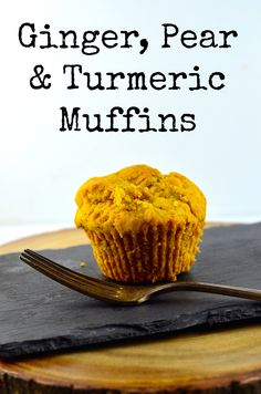 Ginger, Pear and Turmeric Muffins