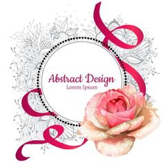 Roses with floral frame and ribbon vector material 01 - https://www.welovesolo.com/roses-with-floral-frame-and-ribbon-vector-material-01/?utm_source=PN&utm_medium=welovesolo59%40gmail.com&utm_campaign=SNAP%2Bfrom%2BWeLoveSoLo