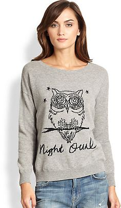 Joie Eloisa Wool & Cashmere Owl Sweater on shopstyle.com