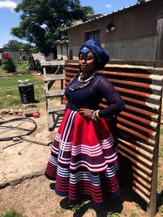 Modern Xhosa by Pedi Traditional Attire, Traditional Fashion, South African Traditional Dresses, Traditional Wedding Dresses, Xhosa Attire, African Attire, African Maxi Dresses, African Dresses For Women, African Prints